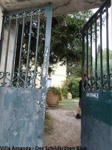 Eingang britischer Friedhof Korfu