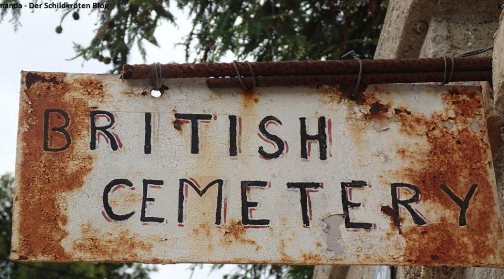 Eingangsschild britischer Friedhof Korfu