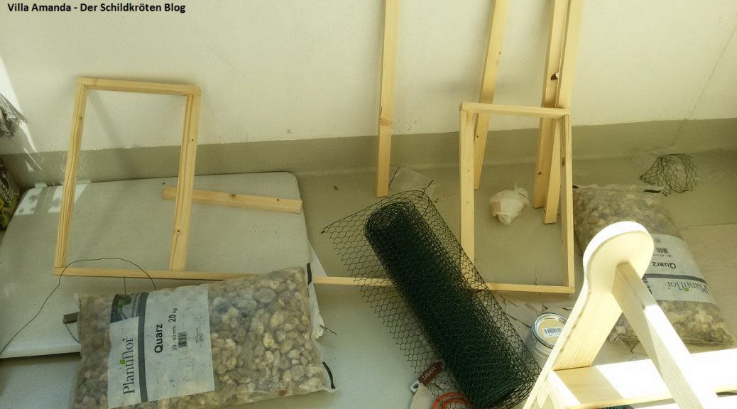 Schildkröten Gehege Bau